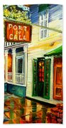 New Orleans Port Of Call Beach Towel