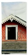 New Orleans Rooftop Architecture Fish Scales And Gingerbread Beach Towel