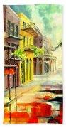 New Orleans Summer Rain Beach Towel