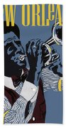 New Orleans, Trumpeter Beach Towel