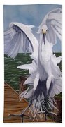 New Point Egret Beach Towel