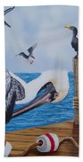New Point Pelican Beach Towel