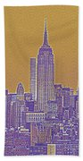 New Tork City Ny Travel Poster 5 Beach Towel