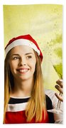 New Year Christmas Party Beach Towel