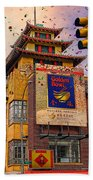 New Year In Chinatown Beach Towel