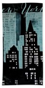 New York Art Deco Beach Towel