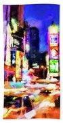 New York At Night - 15 Beach Towel