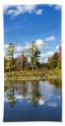 New York Autumn Landscape Beach Towel