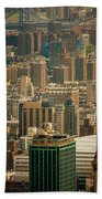 New York City Buildings And Skyline Beach Towel
