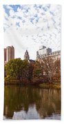 New York City Central Park Living - Impressions Of Manhattan Beach Towel