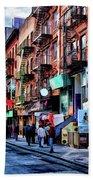 New York City Chinatown Beach Towel