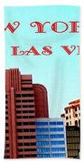 New York City- Las Vegas Beach Towel