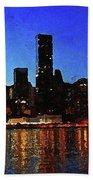 New York City Night Lights Beach Towel