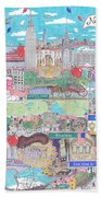 New York City On A Sunny Day Beach Towel