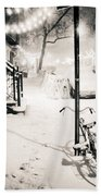 New York City - Snow Beach Towel by Vivienne Gucwa