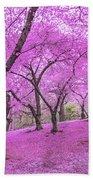 New York City Springtime Beach Towel