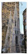New York City St. Patrick's Cathedral Beach Sheet