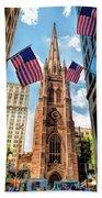New York City Trinity Church Beach Towel