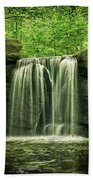New York City Waterfall Beach Towel