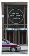 New York District Council Of Carpenters Beach Towel