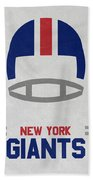 New York Giants Vintage Art Beach Sheet