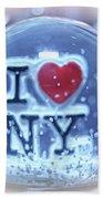 New York Greetings  Beach Towel