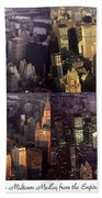 New York Mid Manhattan Medley - Photo Art Poster Beach Towel