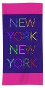 New York No 5  Beach Towel