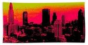 New York Pink Beach Towel