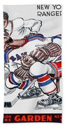 New York Rangers 1960 Program Beach Towel