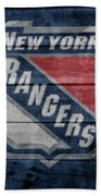 New York Rangers Barn Door Beach Towel