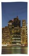 New York Skyline Panorama - 2 Beach Towel