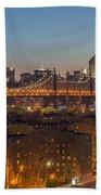 New York Skyline - Queensboro Bridge Beach Towel