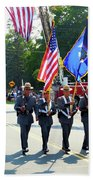 New York State Police Color Guard  5 Beach Towel