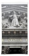 New York Stock Exchange Beach Towel