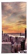 New York Sunset Beach Towel