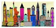 New York - The Big City Beach Towel