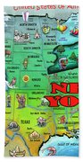 New York Usa Beach Towel