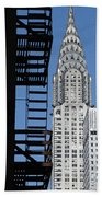 New York Watercolor 3 Beach Towel