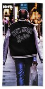 New York Yankees Baseball Jacket Beach Towel
