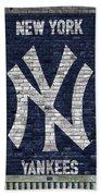 New York Yankees Brick Wall Beach Towel