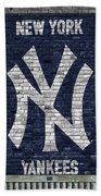 New York Yankees Brick Wall Beach Sheet