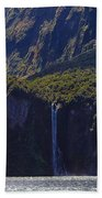 New Zealand Stirling Falls In Hanging Valley Beach Towel