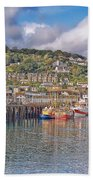 Newlyn Harbour Cornwall 2 Beach Towel