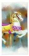 Newport Beach Carousel Horse Beach Sheet