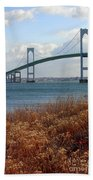 Newport Bridge Newport Rhode Island Beach Towel
