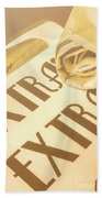 News In Detail Beach Towel