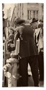 News Of The Attack On Pearl Harbor - San Francisco 8 Dec 1941 Beach Towel