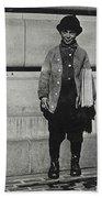 Newsboy, 1909 Beach Towel