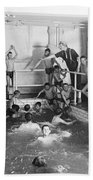 Newsboys Swimming 1900s Beach Towel